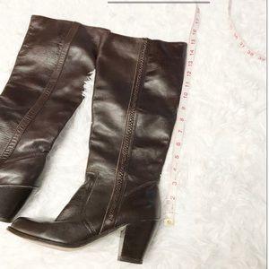 MICHAEL Michael Kors Shoes - Michael Kors dark brown leather heel boots 7.5M